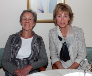 On Wednesday morning in Kerlogue Nursing Home at the Alzheimer's Tea party were Jo Brogan and Joan Bowe.