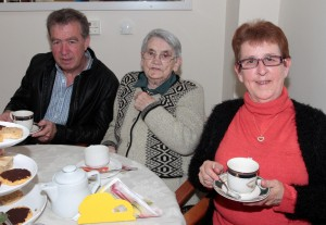 On Wednesday morning in Kerlogue Nursing Home at the Alzheimer's Tea party were Thomas Creane, Bridie Creane and Marion Creane